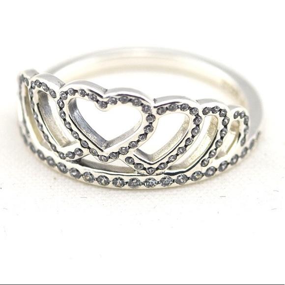 Pandora Jewelry Heart Princess Tiara Crown Ring Poshmark
